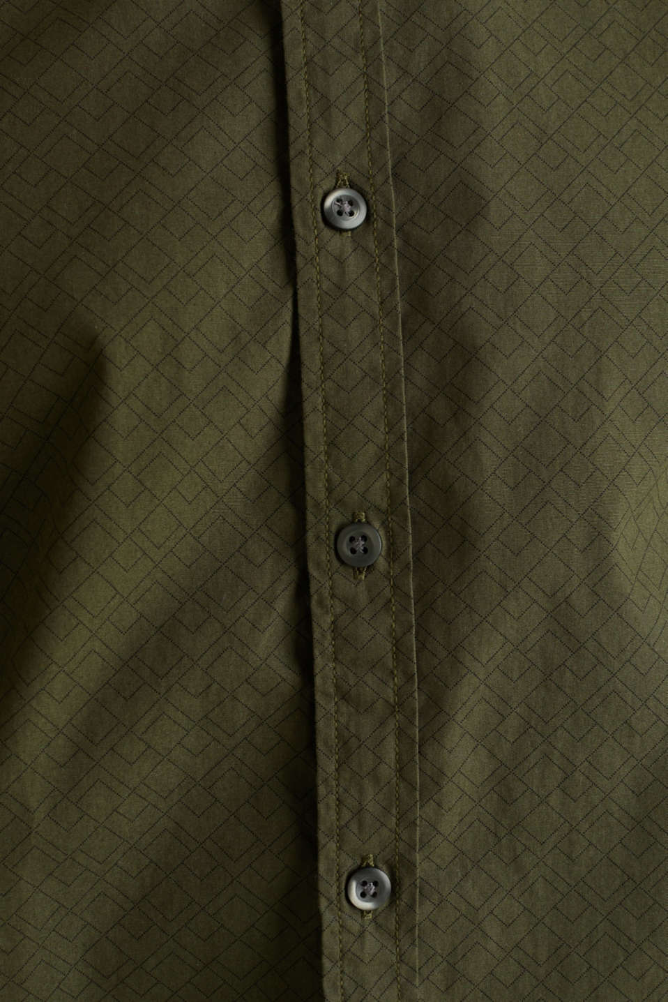 Shirts woven Slim fit, DARK KHAKI, detail image number 4
