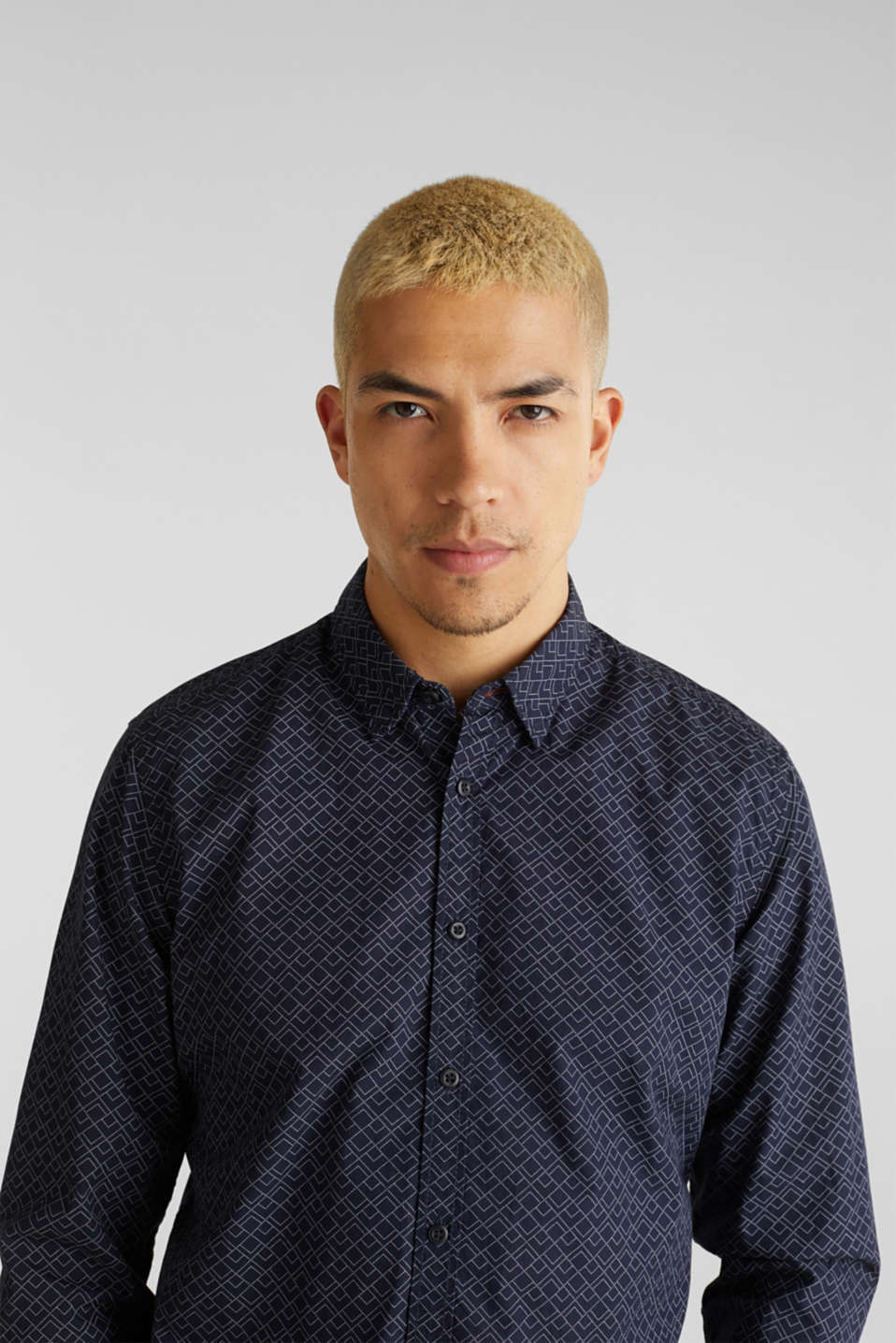 Shirt with an all-over print, 100% cotton