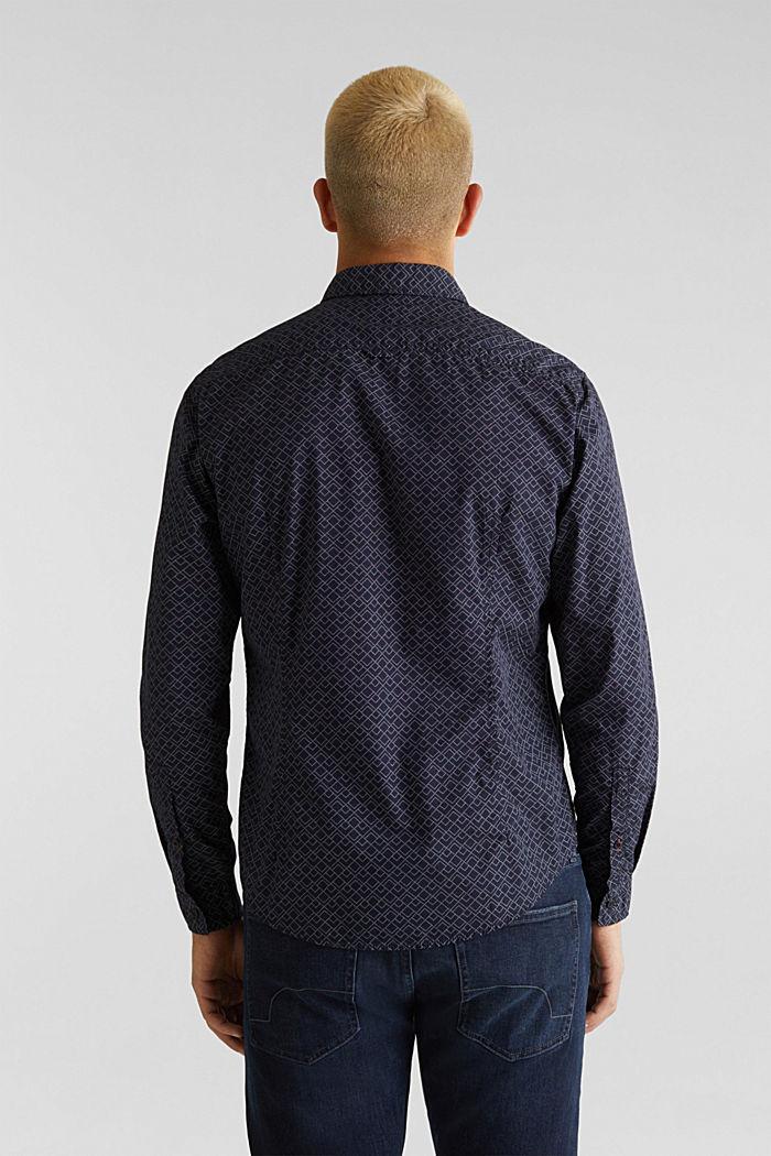 Hemd mit Allover-Print, 100% Baumwolle , NAVY, detail image number 3