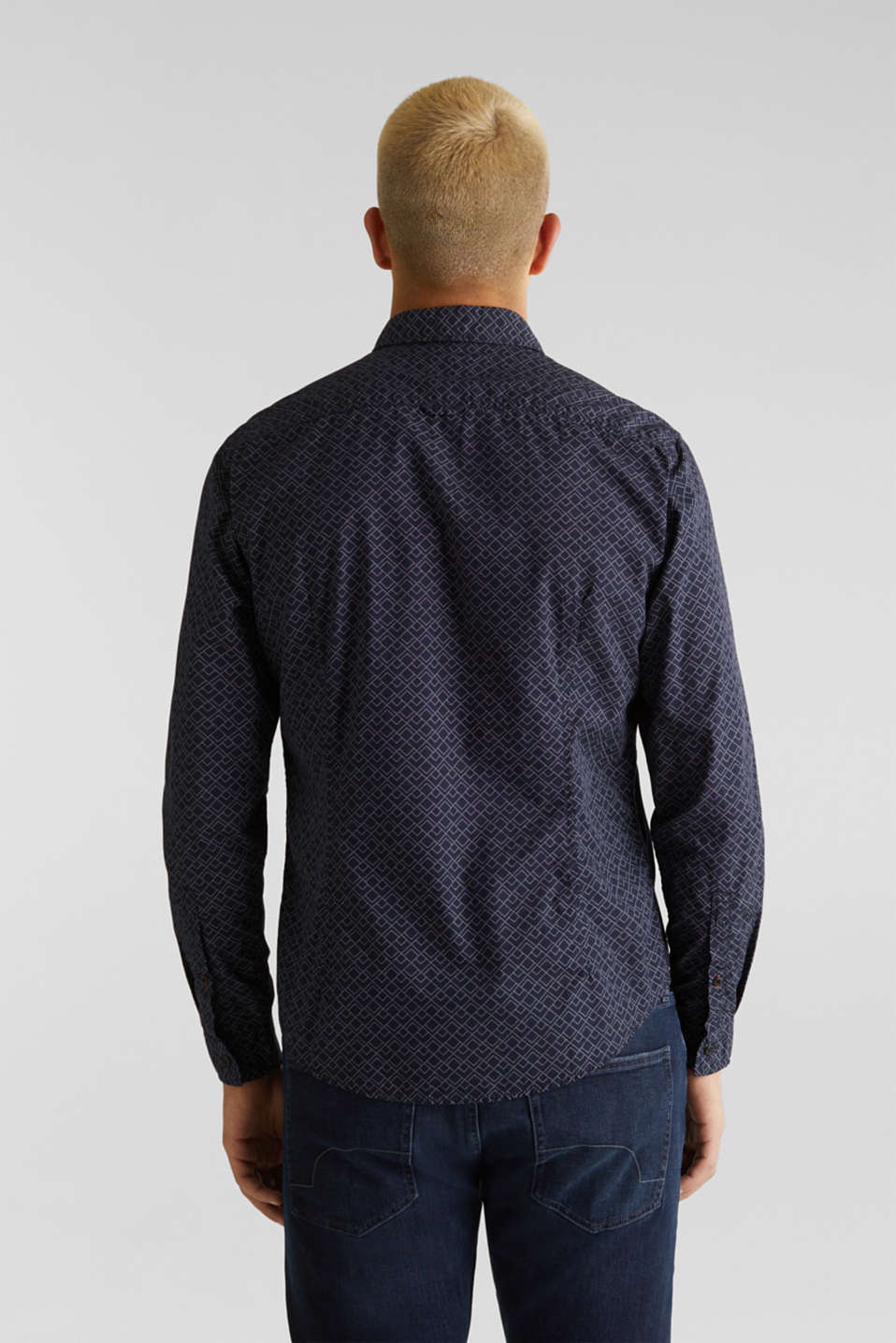 Shirt with an all-over print, 100% cotton , NAVY, detail image number 3