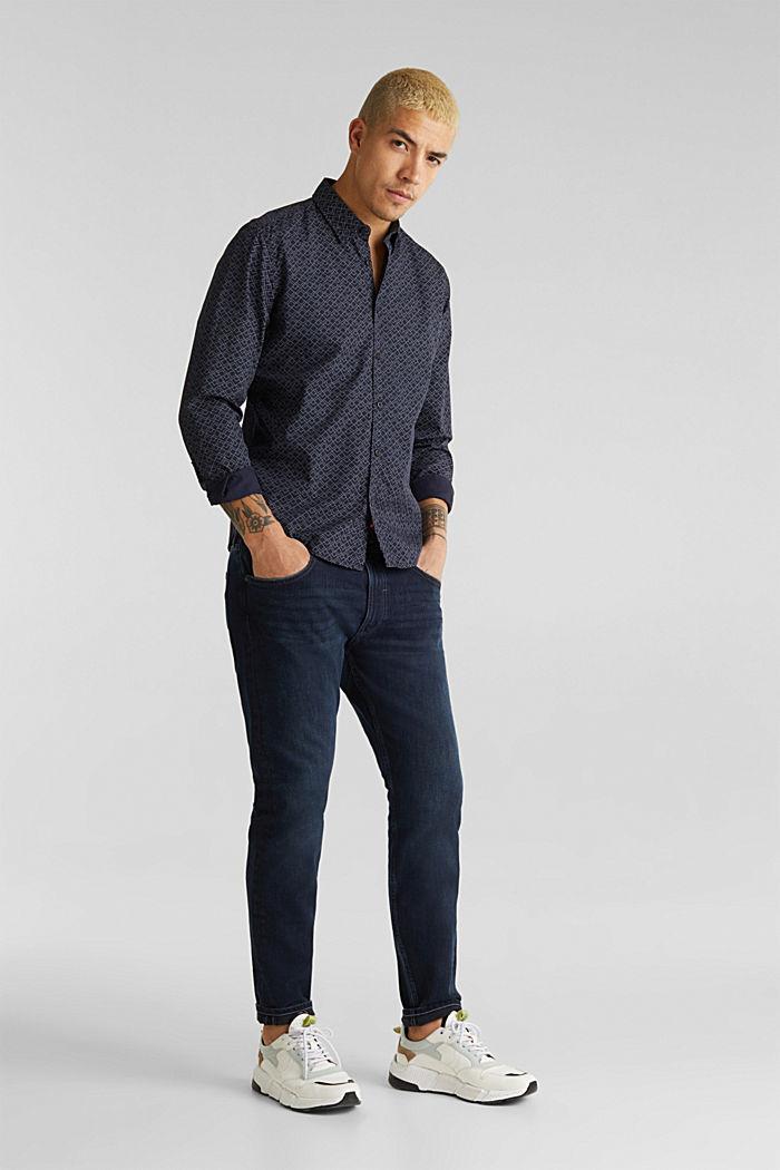 Hemd mit Allover-Print, 100% Baumwolle , NAVY, detail image number 6
