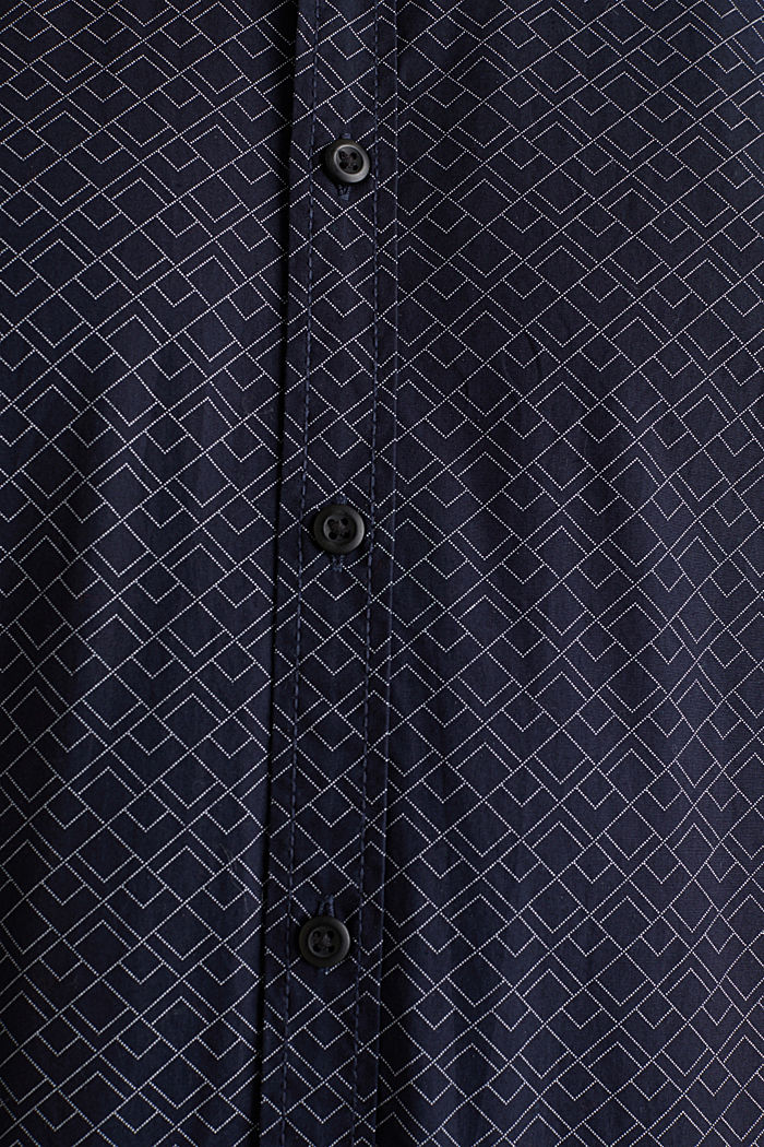 Hemd mit Allover-Print, 100% Baumwolle , NAVY, detail image number 4