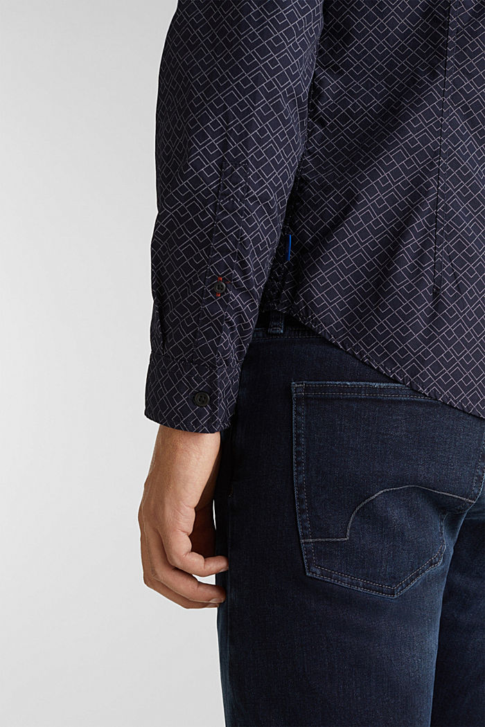 Hemd mit Allover-Print, 100% Baumwolle , NAVY, detail image number 5