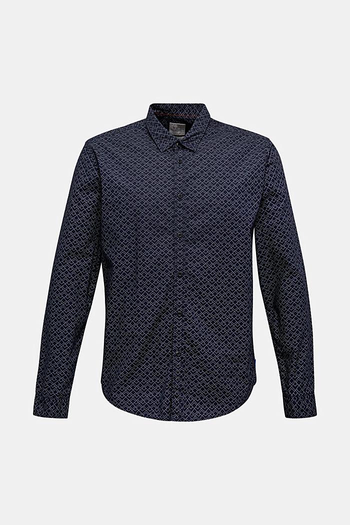Hemd mit Allover-Print, 100% Baumwolle , NAVY, detail image number 7