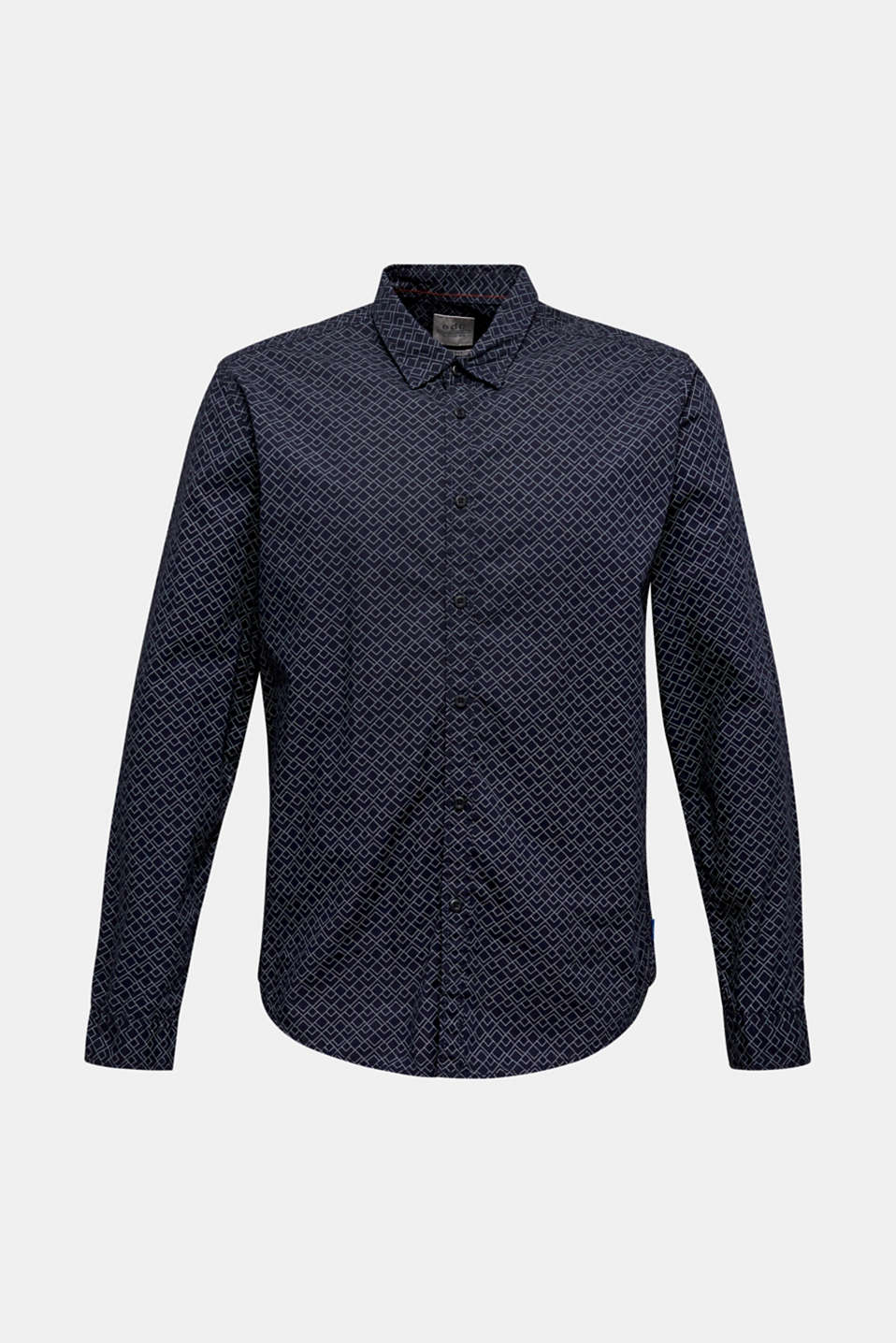 Shirt with an all-over print, 100% cotton , NAVY, detail image number 7