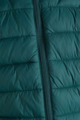 Hooded quilted jacket, DARK GREEN, detail