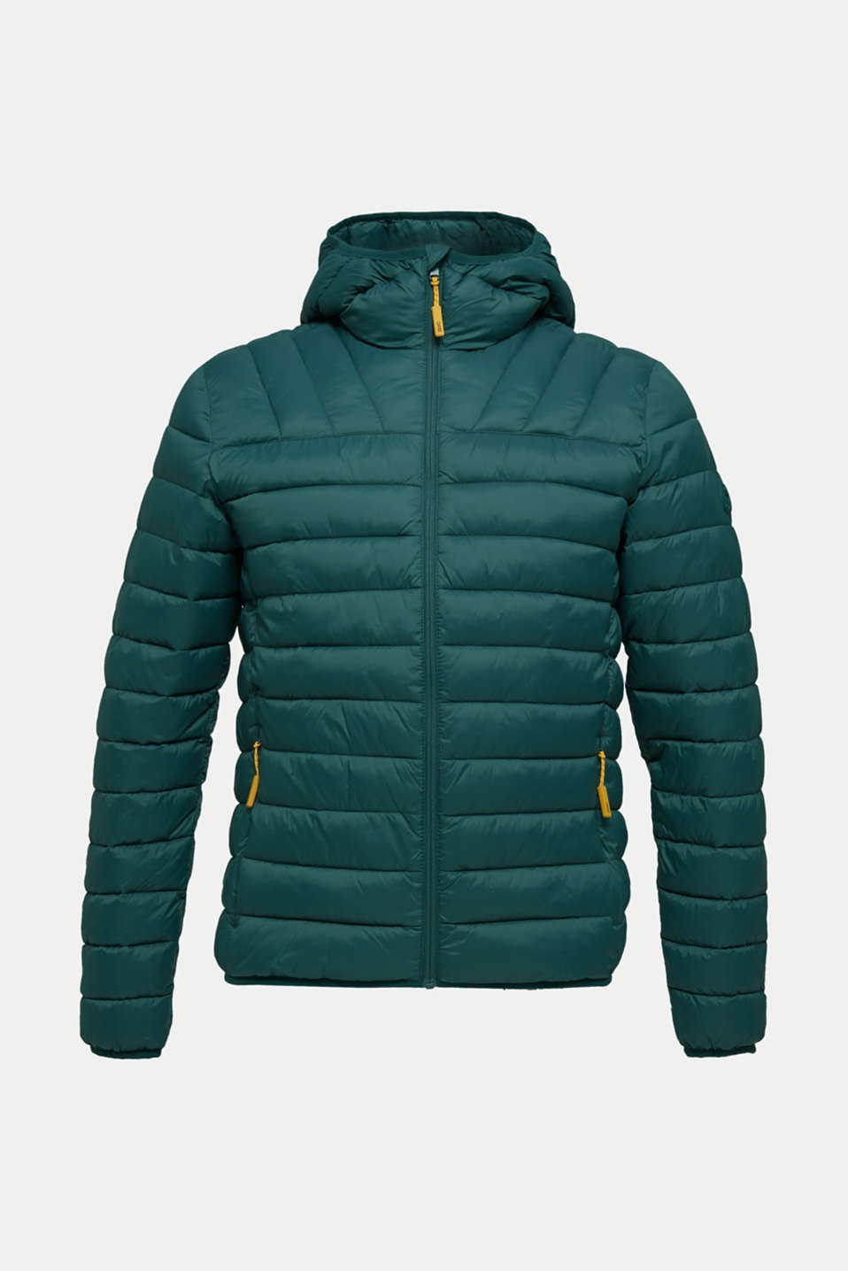 Hooded quilted jacket, DARK GREEN, detail image number 7