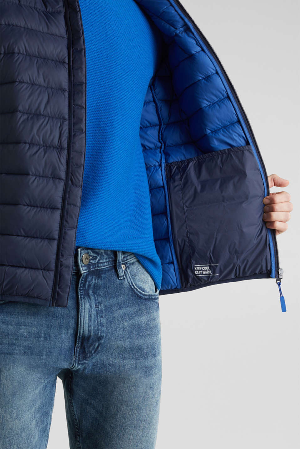 Jackets outdoor woven, DARK BLUE, detail image number 7