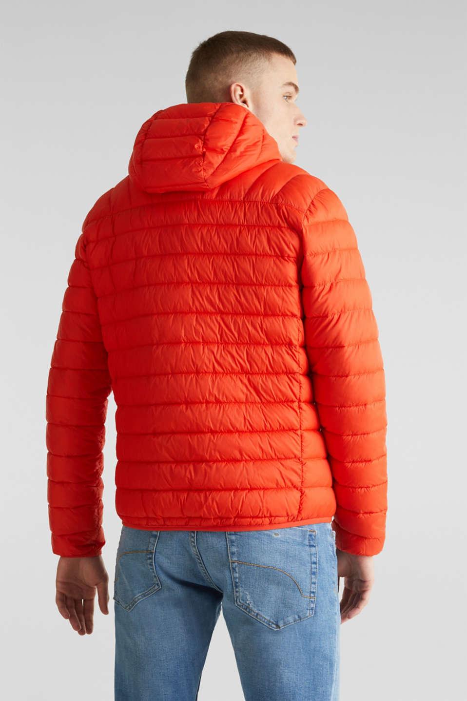 Hooded quilted jacket, ORANGE, detail image number 3