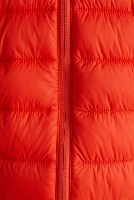 Hooded quilted jacket, ORANGE, detail