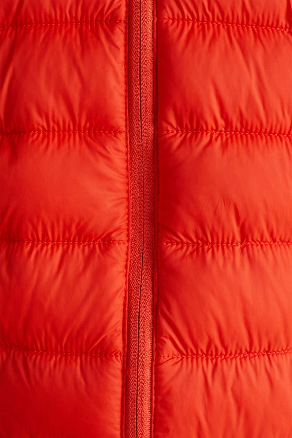 Hooded quilted jacket, ORANGE, detail image number 4