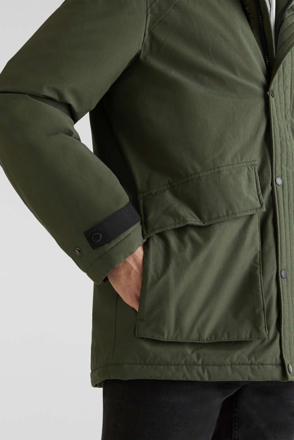 Jackets outdoor woven, DARK KHAKI, detail image number 7