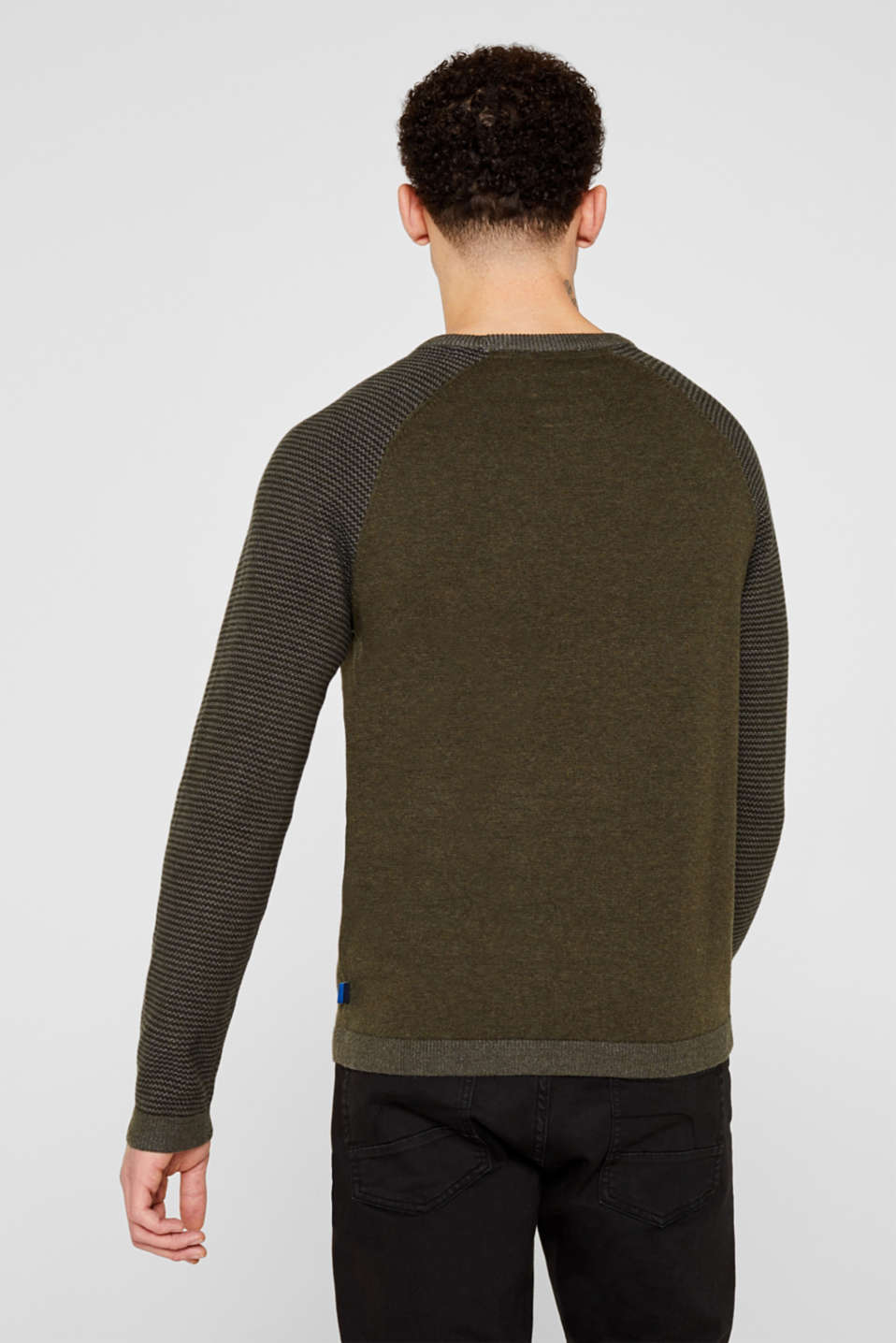 100% cotton jumper, KHAKI GREEN 5, detail image number 3