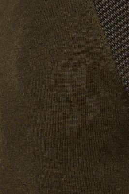 100% cotton jumper, KHAKI GREEN 5, detail