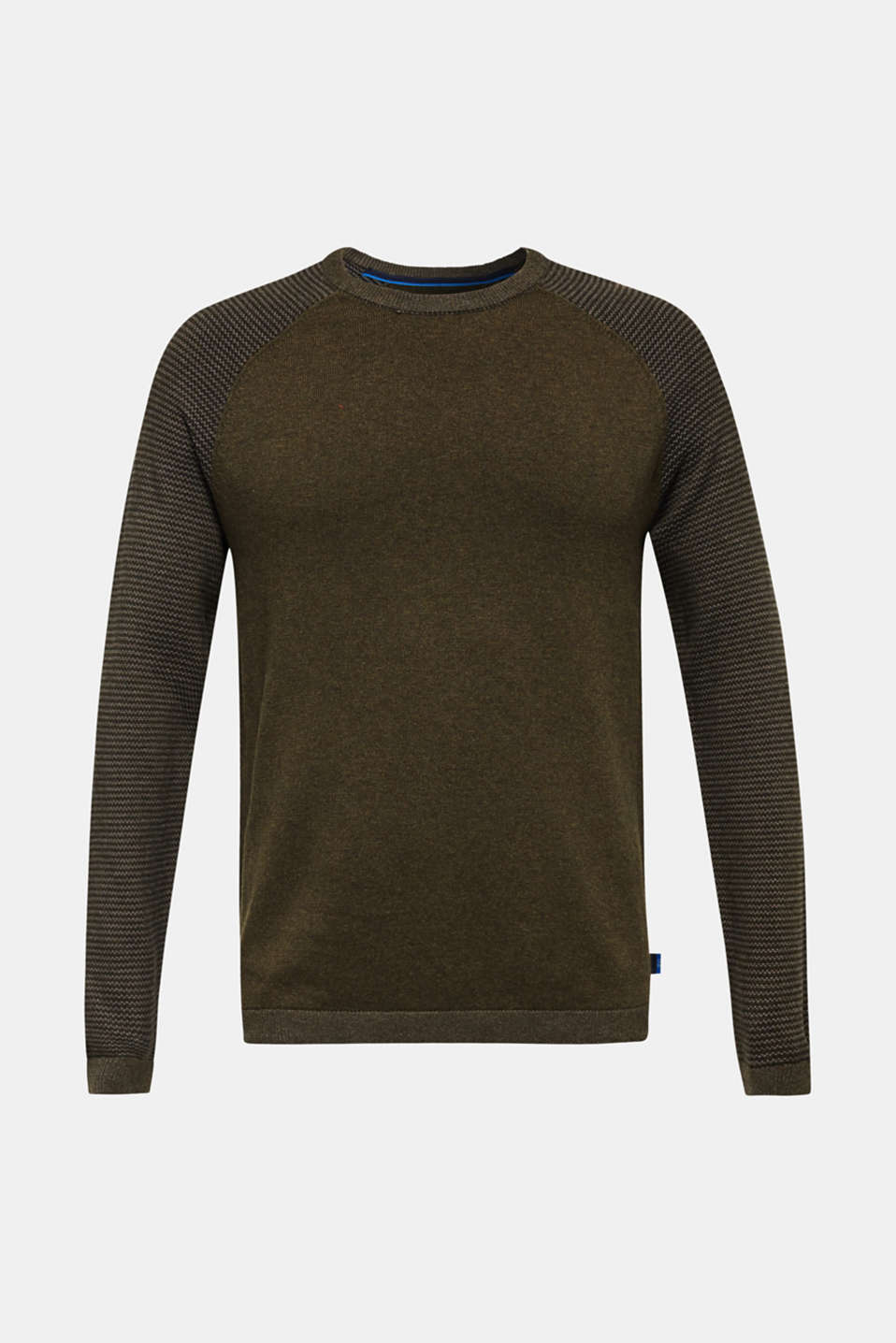 100% cotton jumper, KHAKI GREEN 5, detail image number 5