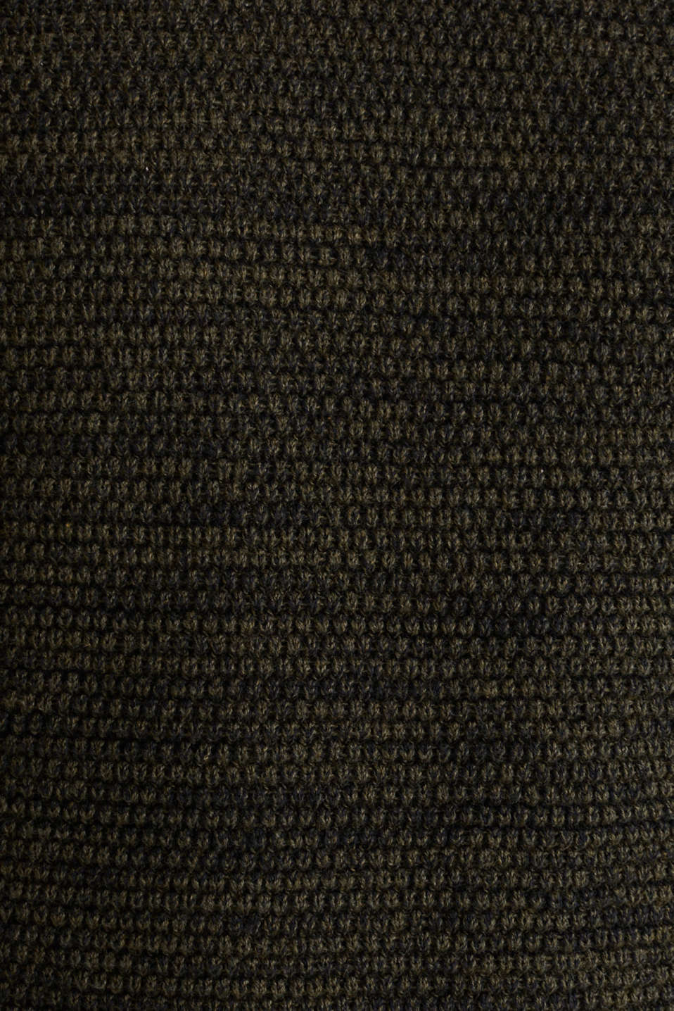 Textured jumper made of 100% cotton, KHAKI GREEN 5, detail image number 4