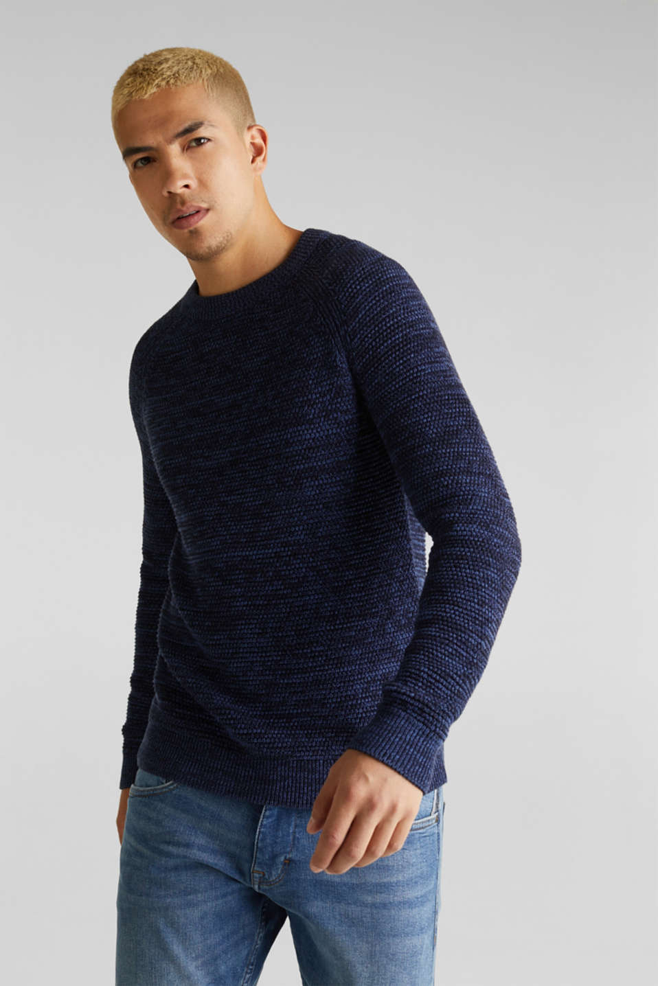 edc - Textured jumper in 100% cotton