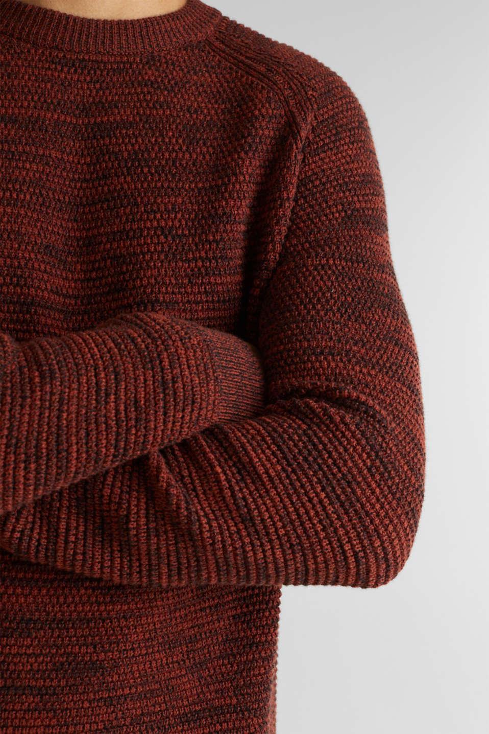 Sweaters, RUST ORANGE 5, detail image number 2