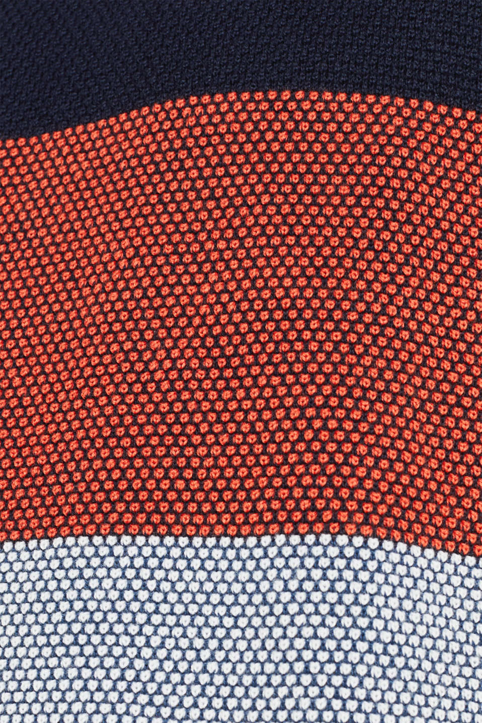 Textured jumper made of 100% cotton, NAVY 3, detail image number 4