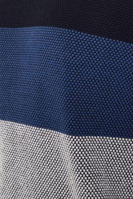 Textured jumper made of 100% cotton, BLUE 3, detail