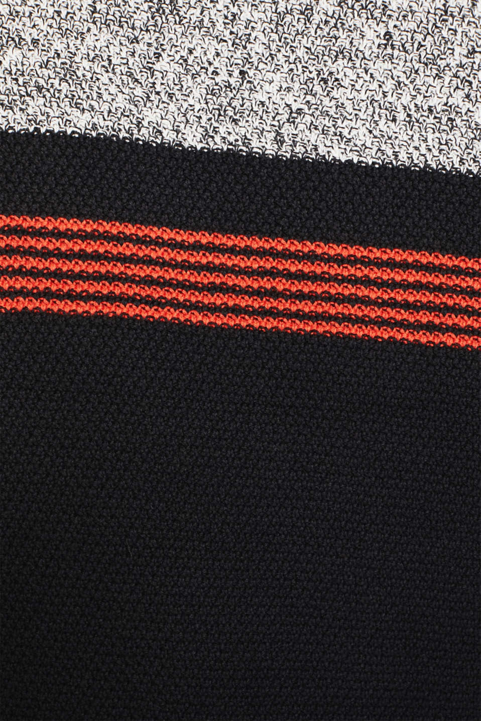 Knitted hoodie in 100% cotton, BLACK 3, detail image number 4