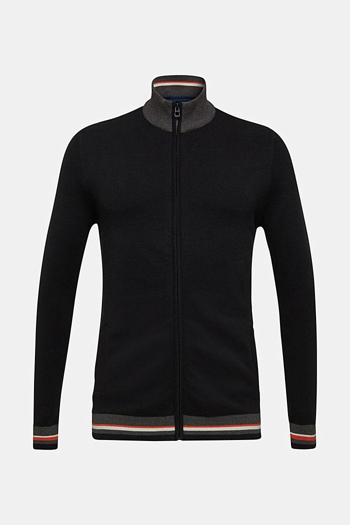 Gebreid vest van 100% katoen, BLACK 2, detail image number 0