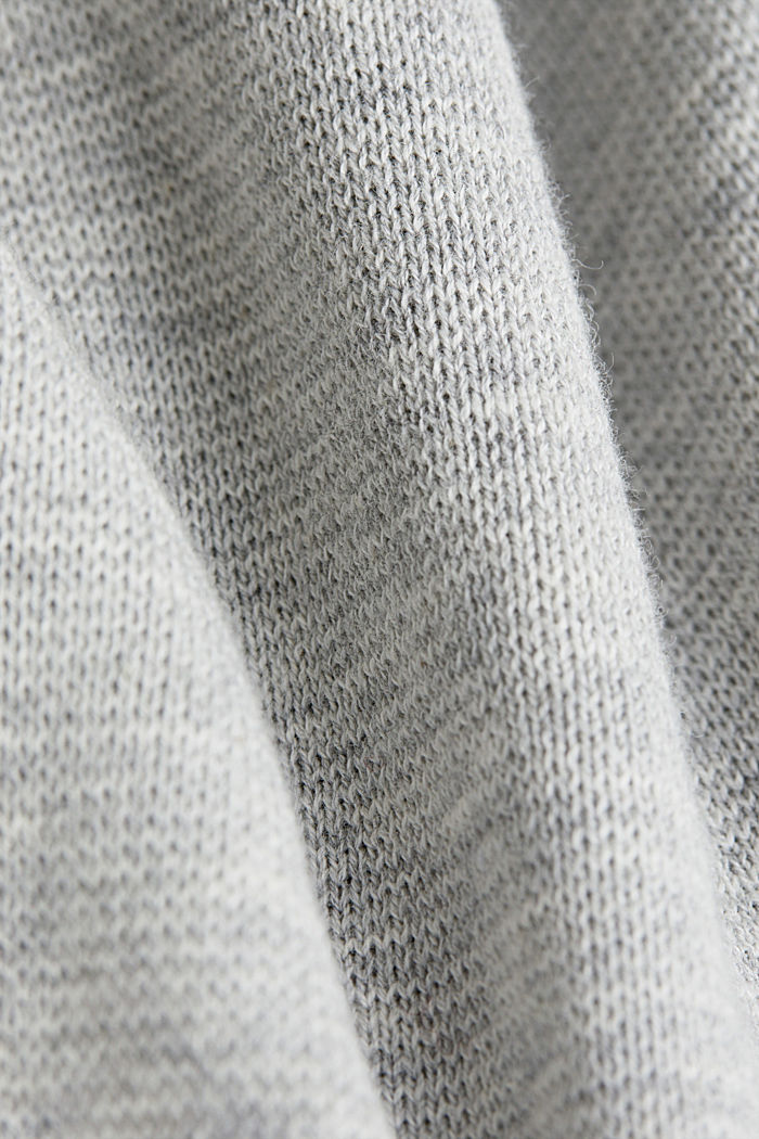Color Block-Pullover, 100% Baumwolle, GREY, detail image number 4