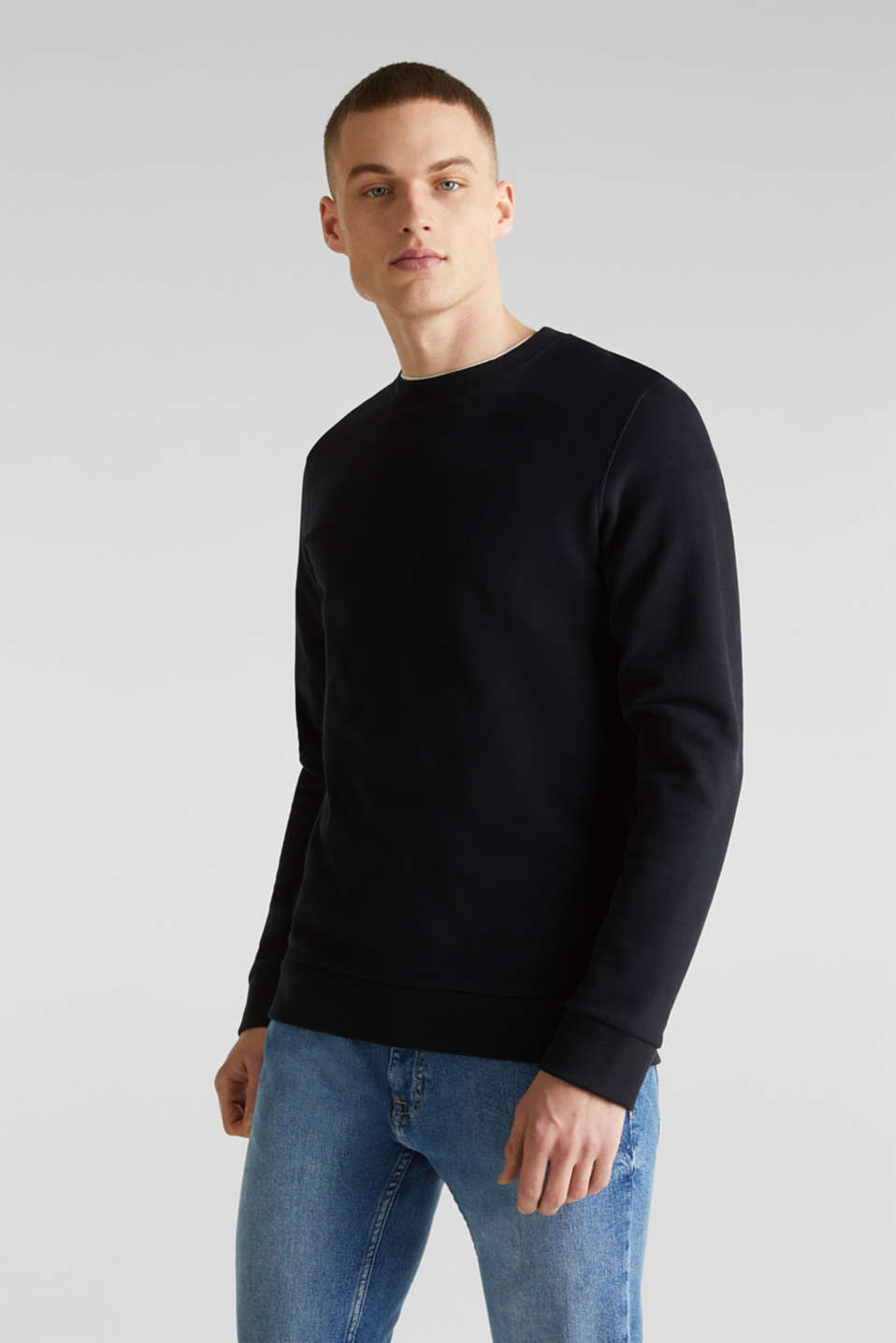Sweatshirts, BLACK, detail image number 0