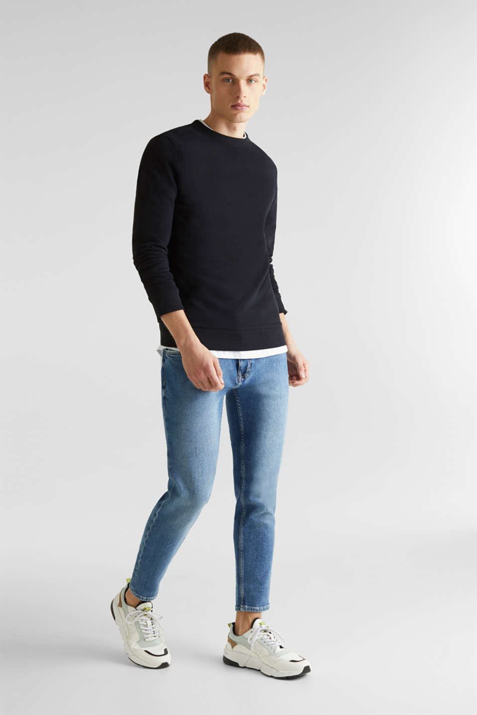 Sweatshirts, BLACK, detail image number 1