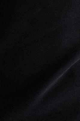 Sweatshirt in 100% cotton, BLACK, detail