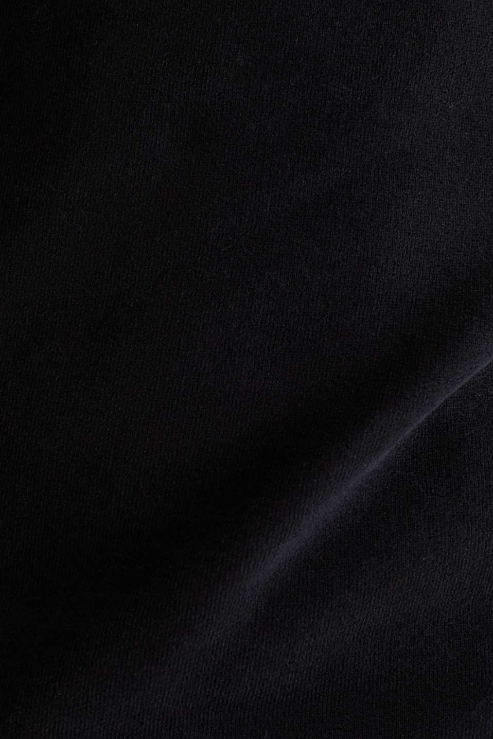 Sweatshirt in 100% cotton, BLACK, detail image number 3