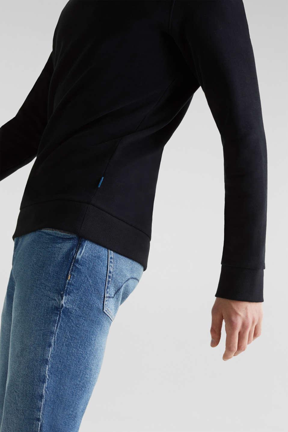 Sweatshirt in 100% cotton, BLACK, detail image number 5
