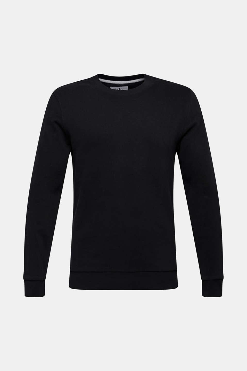 Sweatshirt in 100% cotton, BLACK, detail image number 6