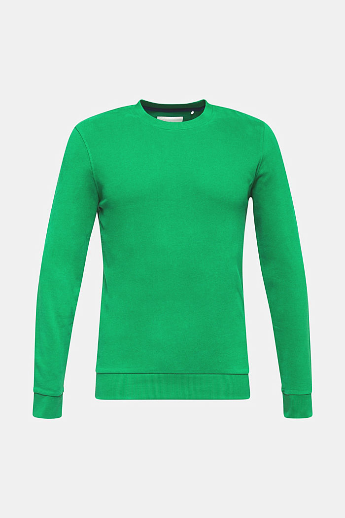 Sweatshirt in 100% cotton, GREEN, detail image number 0