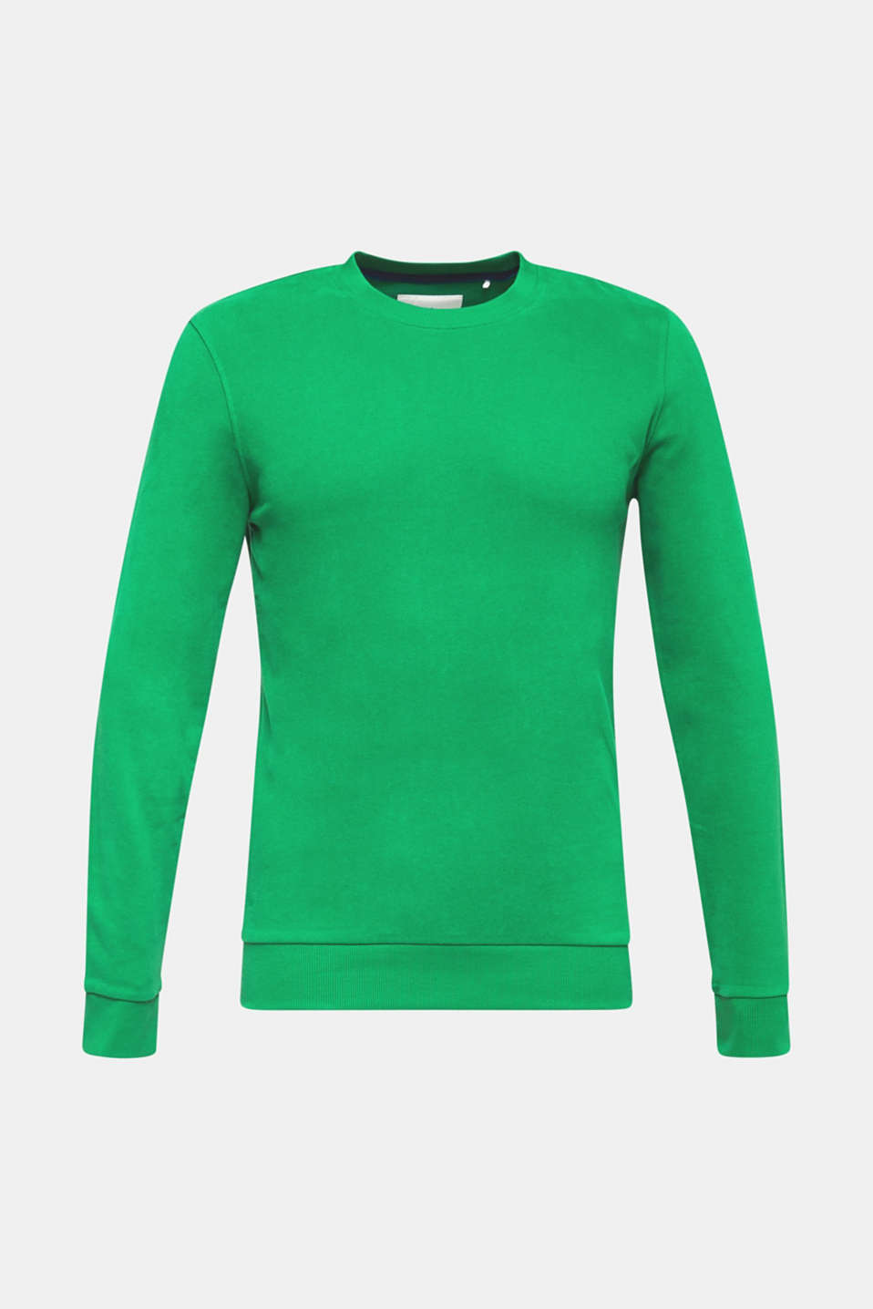 Sweatshirt in 100% cotton, GREEN, detail image number 6