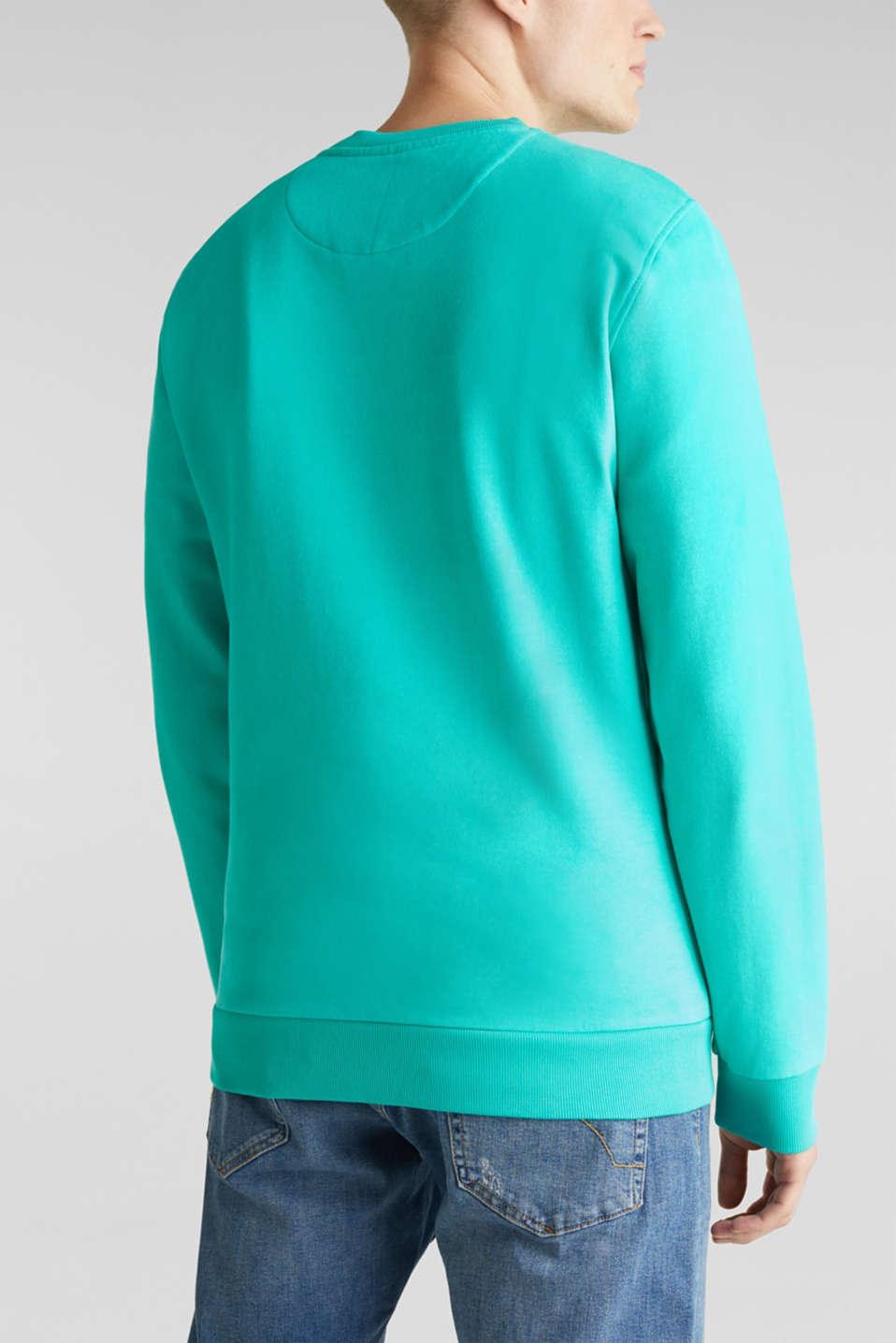 Sweatshirt in 100% cotton, AQUA GREEN 2, detail image number 3