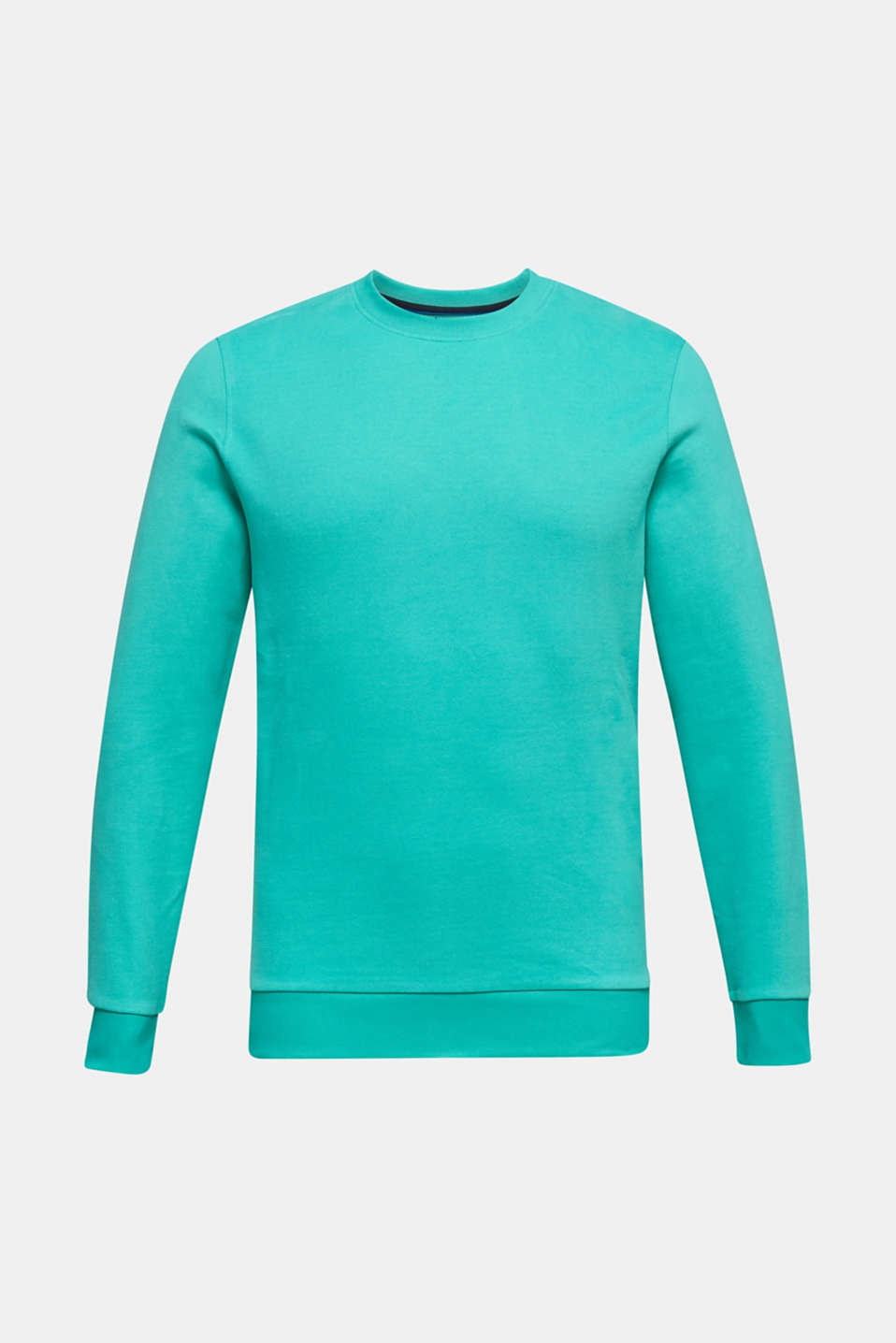Sweatshirt in 100% cotton, AQUA GREEN 2, detail image number 6