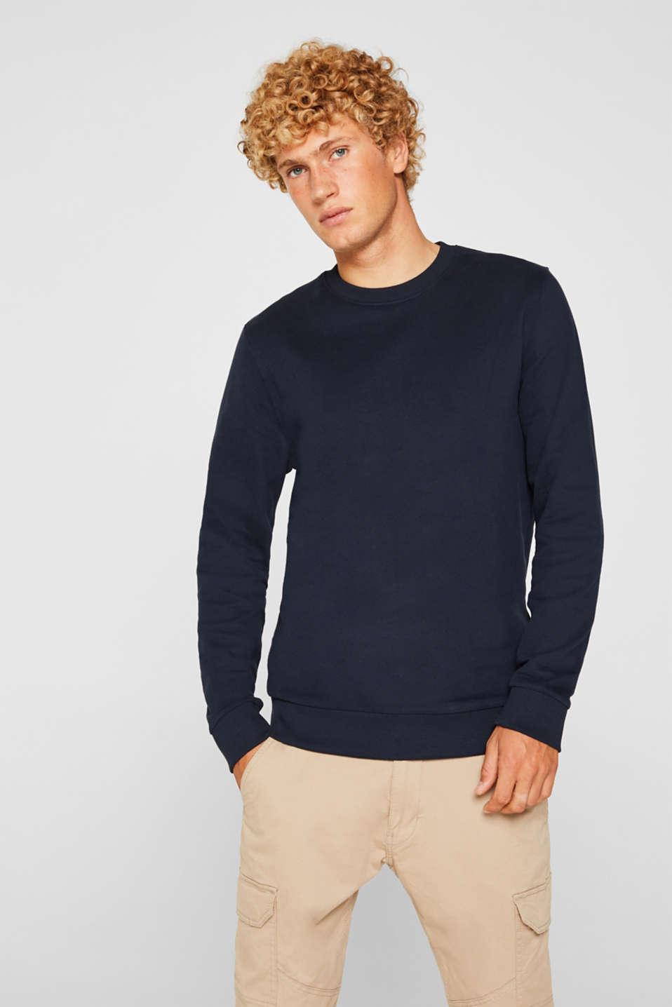 Sweatshirt in 100% cotton, NAVY, detail image number 0
