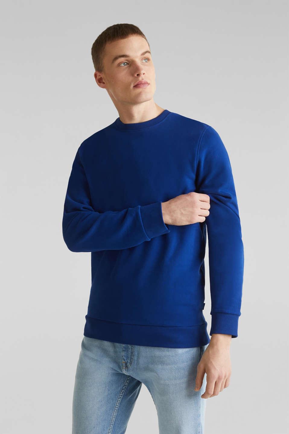 Sweatshirt in 100% cotton, INK, detail image number 0