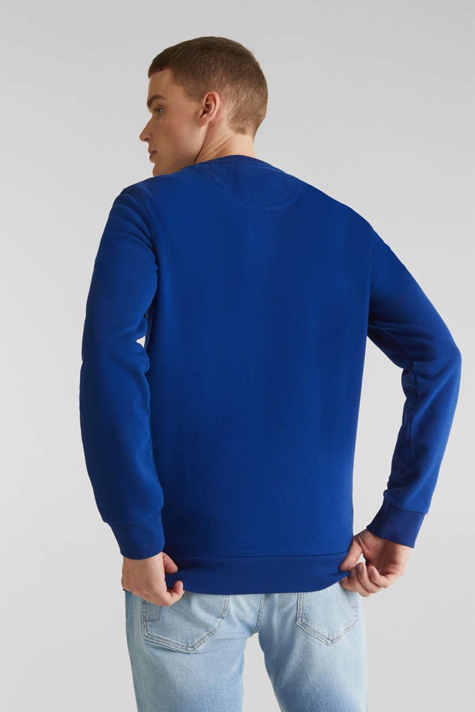 Sweatshirt in 100% cotton, INK, detail image number 3