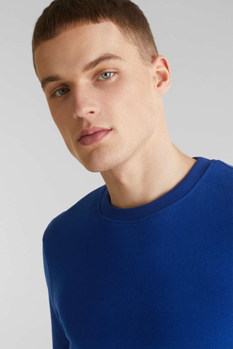 Sweatshirt in 100% cotton, INK, detail image number 2