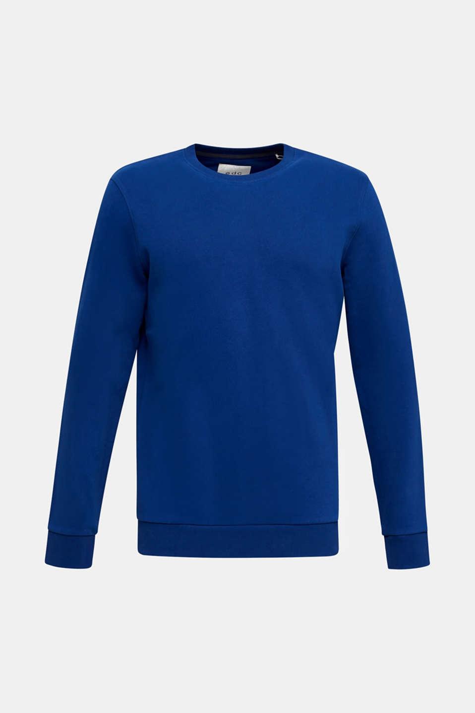 Sweatshirt in 100% cotton, INK, detail image number 7