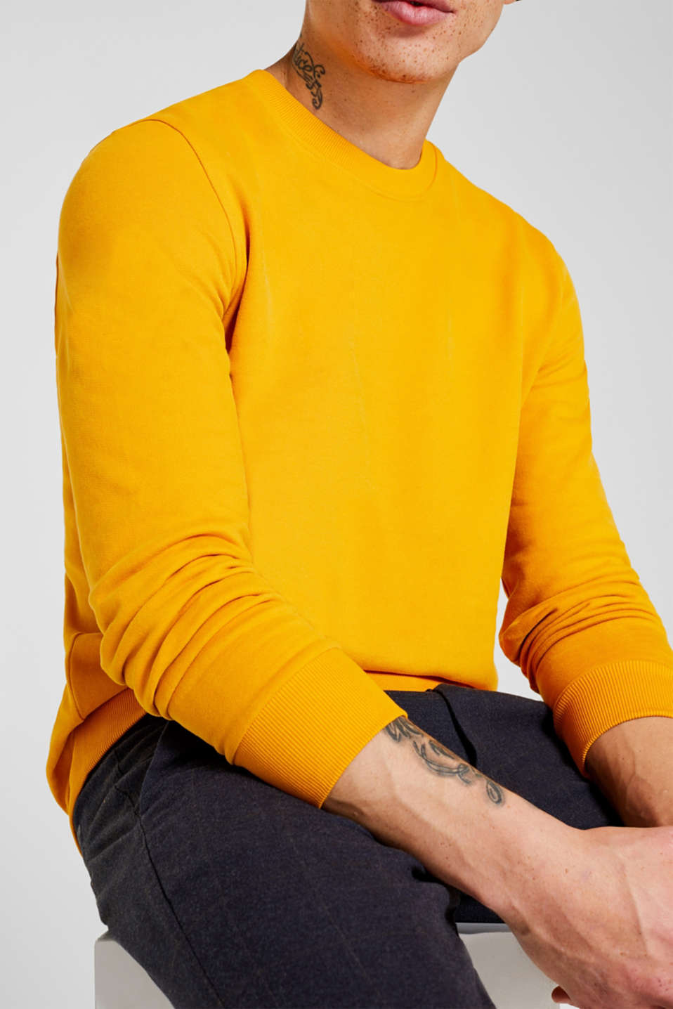 Sweatshirts, BRASS YELLOW, detail image number 2