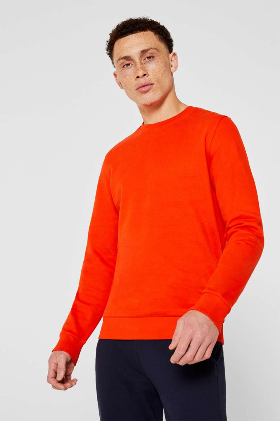 Sweatshirts, ORANGE, detail image number 0