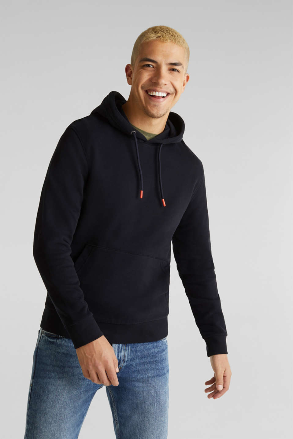 Hoodie in 100% cotton, BLACK, detail image number 0