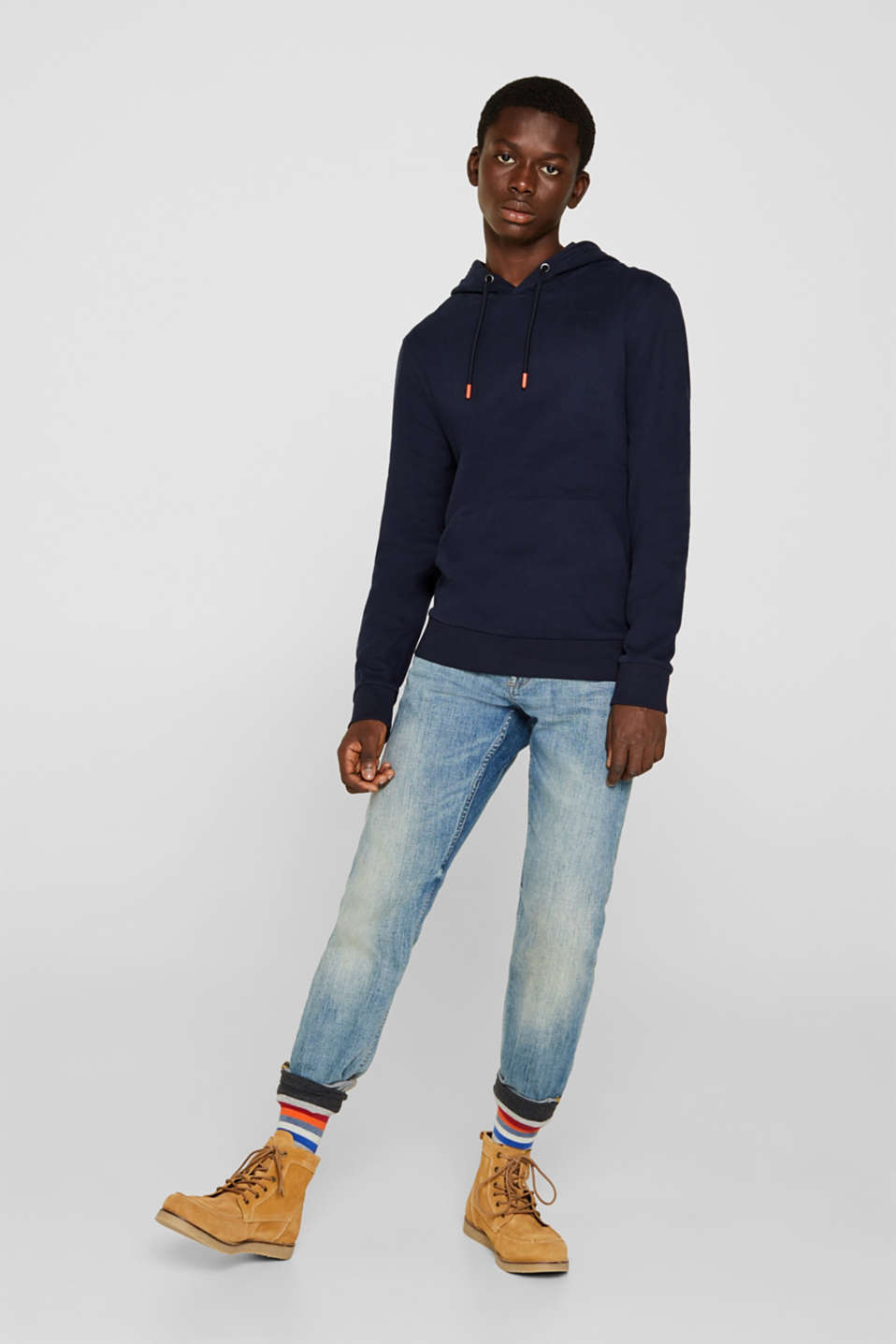 Sweatshirts, NAVY, detail image number 4