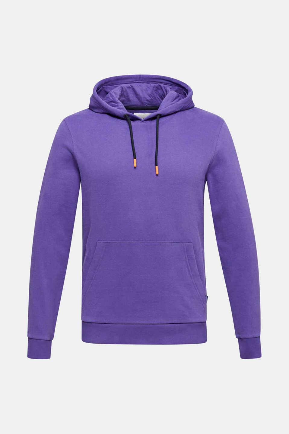 Hoodie in 100% cotton, PURPLE, detail image number 5