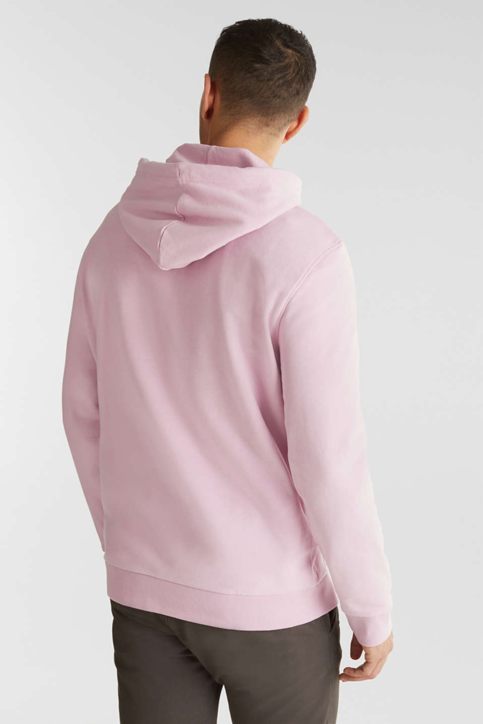 Hoodie in 100% cotton, LIGHT PINK, detail image number 2