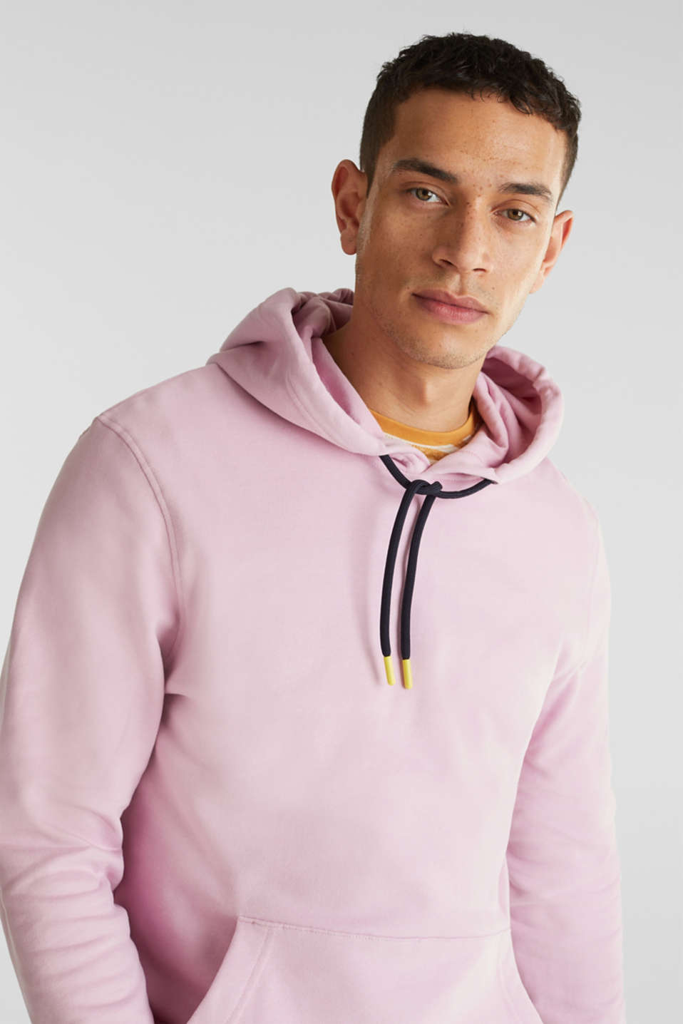 Hoodie in 100% cotton, LIGHT PINK, detail image number 4