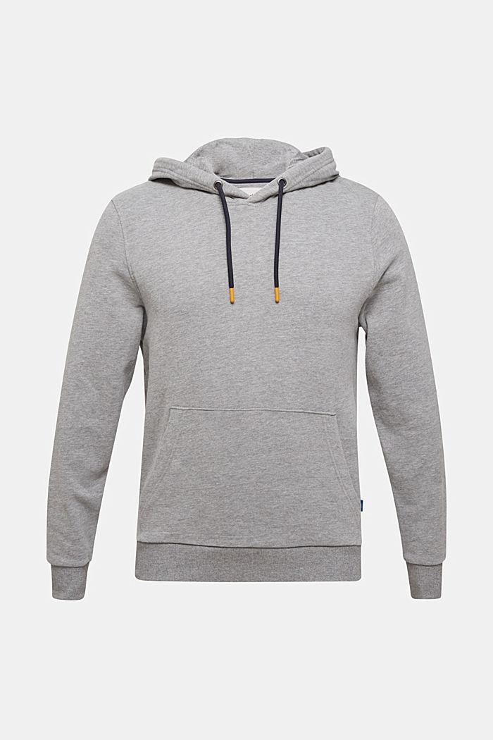 Cotton blend hoodie, MEDIUM GREY 5, detail image number 0